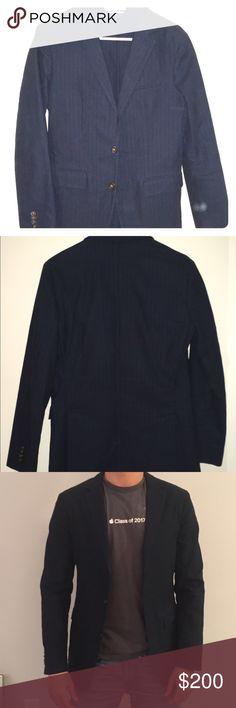 Club Monaco blazer Men's navy blue blazer, great condition. 100% cotton Club Monaco Suits & Blazers Sport Coats & Blazers