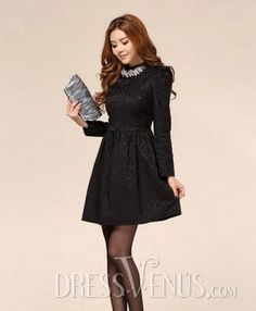 7e0e91cd0 Long Sleeves Dress. Sweet 16 Dresses
