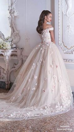demetrios 2019 bridal off the shoulder sweetheart neckline full embellishment ro., demetrios 2019 bridal off the shoulder sweetheart neckline full embellishment romantic princess pink ball gown a line wedding dress chapel train b. Wedding Dresses Photos, Long Wedding Dresses, Princess Wedding Dresses, Wedding Dress Styles, Bridal Dresses, Wedding Gowns, Ribbon Wedding, Wedding Suits, Long Dresses