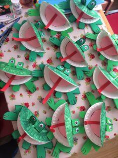 Tabaktan kurbağa, yeşil renk etkinlikleri,