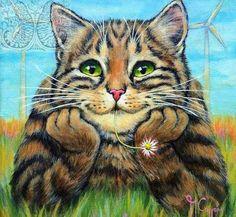 So cute! sleepy cat, cat design, cat drawing, cats and kittens Cute Kittens, Cats And Kittens, Ragdoll Cats, Kitty Cats, I Love Cats, Crazy Cats, Kitten Breeds, Gatos Cats, Cat Drawing