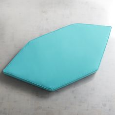 Large Contour Wedge Seat In Cabana Turquoise