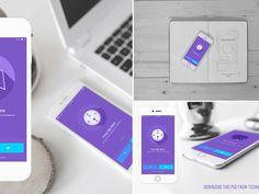 iOS app showcase mockups - Free PSD