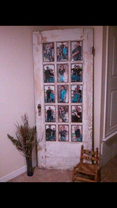 Use old doors as picture frames!