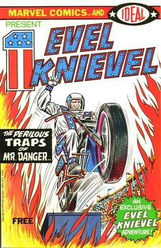 comicbookcovers:  Evel Knievel #1, 1974  (When I was growing up, he was practically a superhero to me.)