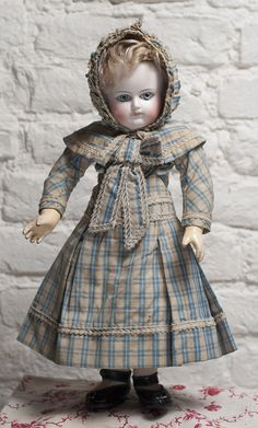 Rare Early French Bisque Bebe Schmitt Doll Known as Cup and Saucer Style Antique dolls at Respectfulbear.com