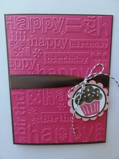 Simple Birthday Card - easy to turn into guy card with masculine colors too!