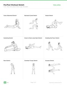 After Workout Stretches, Warm Up Stretches, Gym Workouts, At Home Workouts, Stretching Exercises, Workout Schedule, Workout Plans, Weight Loss Workout Plan, Weight Loss Challenge