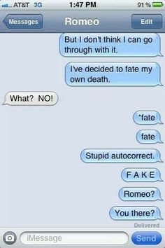 Romeo and Juliet + texting