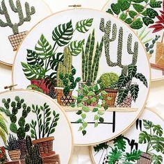 Plantas bordadas | No me toques las Helvéticas | Blog sobre diseño gráfico y publicidad