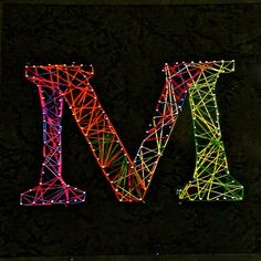 "string art - reminds me of lasers - maybe name, initial or age? or if ambition ""happy birthday"""