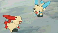 electric-cheers (Plusle and Minun) on deviantART