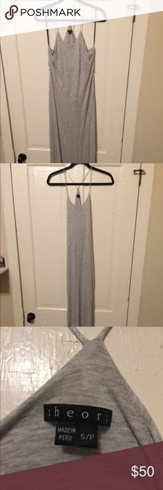 """Theory Maxi dress Extremely soft and long maxi dress from Theory. Only worn one time- like new condition! Hard to tell how long this is but I am 5'9"""" and it was to my feet when I wore it! Theory Dresses Maxi"""