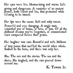 Storm by K. Towne Jr. Favorite new poet
