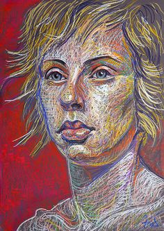 Future, drawing by Fred Hatt Charcoal Portraits, Pastel Portraits, Pencil Portrait, Portrait Art, Female Portrait, Colorful Drawings, Art Drawings, Pencil Drawings, Scribble Art