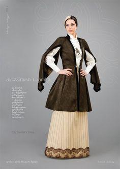"""Samoseli Pirveli"" - Georgian National Costume. City Dwellers Dress - Collection 2011."