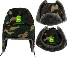 "John Deere ""Camo"" Toddler Green Trapper Style Hat (4T/5T) John Deere http://www.amazon.com/dp/B00GGLWBMW/ref=cm_sw_r_pi_dp_KVm5tb1H1CDFZ"