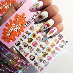 You can get these Totally (AWESOME) 90's Nail Decals designed by Sara M Lyons exclusively at Emerging Thoughts !