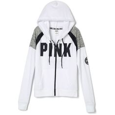 Hoodies and Sweatshirts - PINK (€45) ❤ liked on Polyvore featuring tops, hoodies, sweatshirts, sweatshirt hoodies, crewneck sweatshirt, victoria secret hoodie, hooded pullover and victoria secret sweatshirt