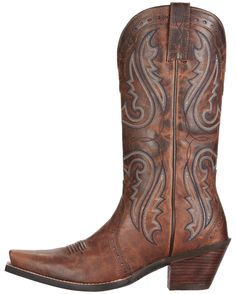 Ariat Women's Heritage Western X Toe Boot - Sassy Brown