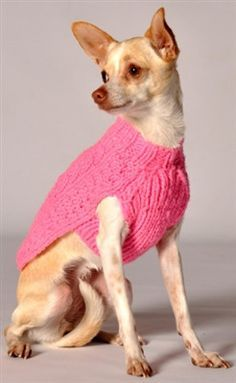 Sophisticated style for your furry fashionista! Your pooch will be warm and cozy in this adorable classic Pink Cable Knit Dog Sweater by Chilly Dogs. Knit Dog Sweater, Dog Sweaters, Cable Knit Sweaters, Pink Sweater, Beagle, Chilly Dogs, Designer Dog Clothes, Puppy Clothes, Dog Jacket
