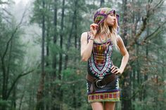 Short Day Tripper Hoodie Dress Enchanted Brown by BlondeVagabond