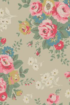 Fondo de pantalla flores vintage / Wallpaper flowers vintage