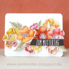 Hey stampers, Anni here. Overhere in Germany Mother's Day is just a few days away. So I decided to make not only one (for my mother) but tw...