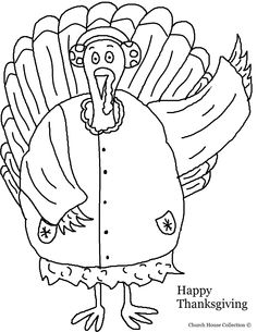 Thanksgiving Turkey In A Coat With Earmuffs Coloring Page 2.jpg (1019×1319)