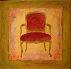 "Everyone should have a chair painting in their home. ""Genoese Chair"" painting by Robert H. Ballard #thingsmatter"