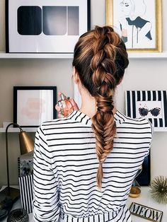 Vanilla Extract's guilty pleasure is the perfect braid to complement a striped look. What's yours? #HateToLove #ad