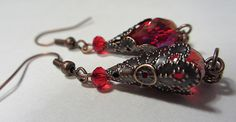 Amazing Swarovski Crystal Ruby Red earrings with Top by NataliaKh, $17.00