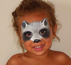 Animal Mask: Racoon  #FacePainting #AnimalMask  (If anyone has 'credit' information please let me know so that I can add to this pin!)