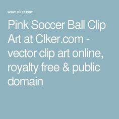 Pink Soccer Ball Clip Art at Clker.com - vector clip art online, royalty free & public domain