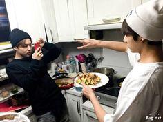 Jimin and Jungkook and food
