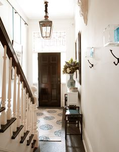touch of blue entryway
