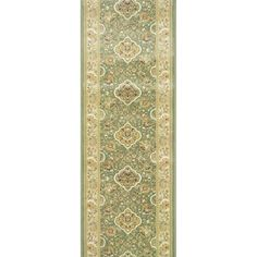 Rivington Rug Cisco Jade Runner Rug (2.7 X 12.0), Green, Size 2'7 x 12' (Olefin, Floral)