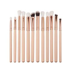 PINK BRUSHES 12 Piece Eye Brush Set | Coverbrands