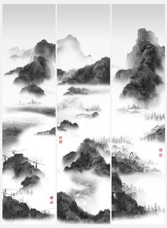'Priptch', tríptico dentro de la serie 'Phantom Landscape III' (2007). Yang Yongliang (Shanghái, 1980)