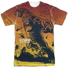 Printed in Poly Vibrant color with advanced moisture management performance and odor control, this T-shirt is what every Kong lover would want to wear!