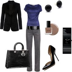 Love this professional look, just can't wear those shoes!