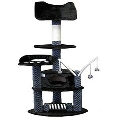 Go Pet Club 62 Tall Greyish Black Cat Tree Furniture ** Check this awesome product by going to the link at the image.