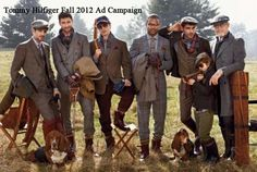 A great advert from Tommy Hilfiger's Fall 2012 ad campaign. A great use of tweed accessorized with tartan scarves.