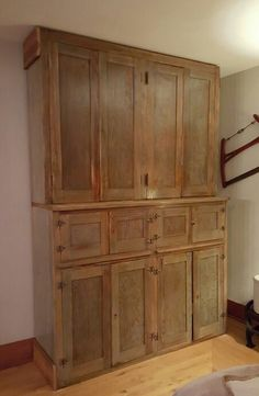 Antique butlers pantry, salvaged from a mansion in Lake Geneva. What an amazing find.