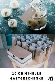Coole Ideen für Gastgeschenke, die einen bleibenden Eindruck hinterlassen und gleichzeitig für Unterhaltung auf der Hochzeit sorgen.