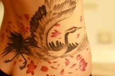 Japanese Crane by Tyler Adams Grizzly Tattoo