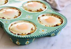 Baked Eggs in Spaghetti Squash Nests | Skinnytaste