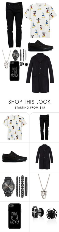 """""""Outfit"""" by gabymyredis ❤ liked on Polyvore featuring Uniqlo, Valentino, Vans, Acne Studios, Gucci, Casetify and Bling Jewelry"""