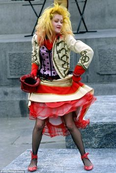 cyndi lauper!!! I just can't help but love her!!! Her style & he music are both perfection to me!!! She's one of my top 5 idols!!