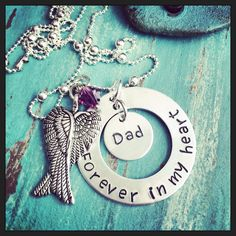A personal favorite from my Etsy shop https://www.etsy.com/listing/210626820/memorial-necklace-sympathy-jewelry-loss